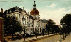Alte Postkarte der Königlichen Regierung - jetzt Stadthaus