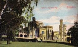 Alte Ansichtskarte vom Schloss Babelsberg ca. 1930