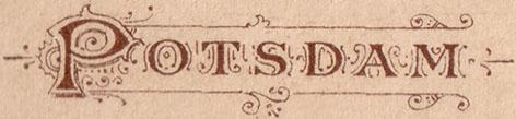 Schriftzug Potsdam