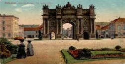 Brandenburger Tor vom Louisenplatz aus gesehen Potsdam Pension