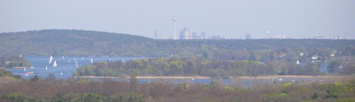 Blick / Sichtachse vom Belvidere Potsdam bis Alexanderplatz Berlin