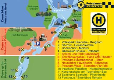 Plan Wassertaxi Potsdam