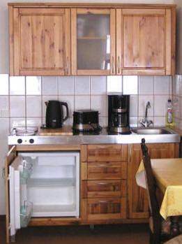 Küchenaustattung der Ferienwohnung Potsdam Babelsberg Berlin