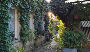 Eingang zum Gartenhaus der Familie Mittenentzwei Ferienwohnung Potsdam