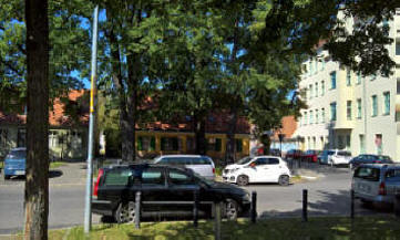 Parkplatzsituation Potsdam Pension Mittenentzwei